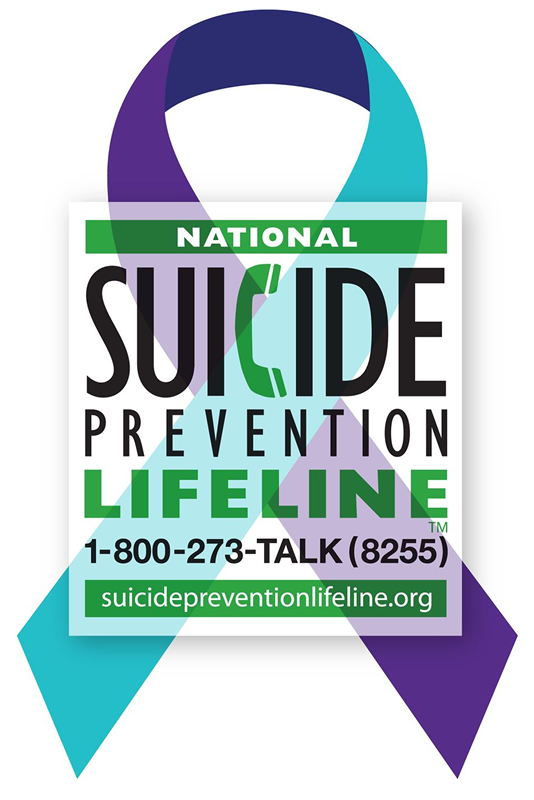 Suicide Prevention Lifeline: 1-800-273-TALK (8255)